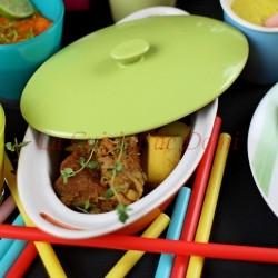 Zoom - Cassolette de poisson aux petits légumes