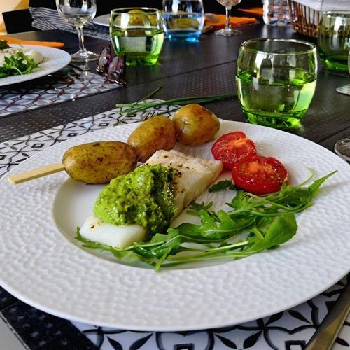 Salsa verde et son filet de poisson